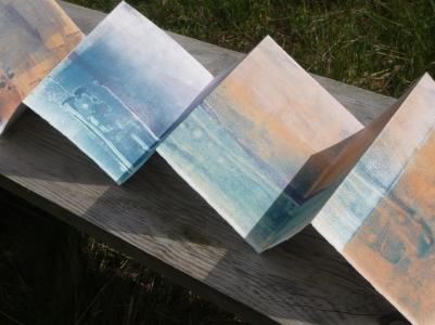 Isle of Barra, Monoprint, folded.