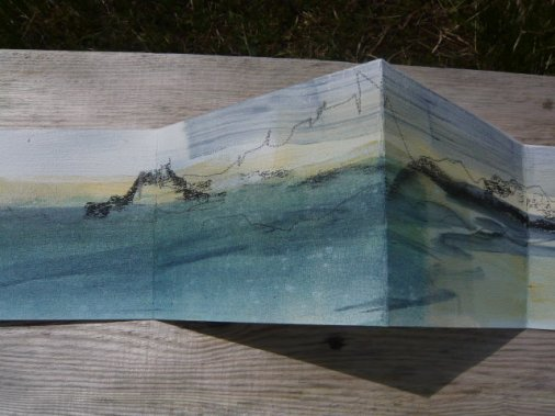 Folded drawing, North Uist.