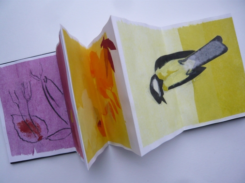 Autumn sketchbook, tissue drawings